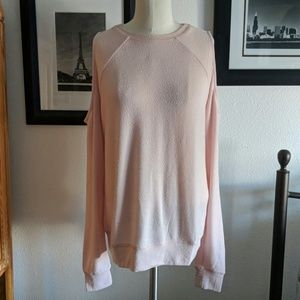 Abercrombie & Fitch Soft Pink Cold Shoulder Top